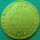 Photo numismatique  Monnaies Monnaies royales en or Louis XVI Louis d'or au buste nu LOUIS XVI, Louis d'or au buste nu, 1786 N Montpellier, 2ème semestre, 7,70 grms, L4L.539 TTB