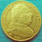 Photo numismatique  Monnaies Monnaies Française en or Louis XVIII 20 Francs or LOUIS XVIII, 20 francs or 1814 A, OR 900°/°° 6,45 grms; G.1026 TTB+