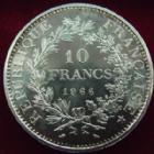 Photo numismatique  Monnaies Monnaies Fran�aises Cinqui�me r�publique 10 francs Hercule 10 francs Hercule 1966, G.813 petites t�ches � nettoyer, FDC