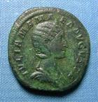 Photo numismatique  Monnaies Empire Romain JULIA MAMEE, JULIA MAMEA, IULIA MAMEA Sesterce, sesterz, sestertius, sestertio JULIA MAMEE, Sesterce frappé à Rome en 231, Cohen 33 TTB belle patine