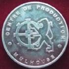 Photo numismatique  Monnaies Jetons Automobile, constructeur Jeton aluminium PEUGEOT, 1991 Lancement de la 106, jeton en aluminium, 30 mm SUPERBE