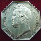Photo numismatique  Monnaies Jetons Jeton de Louis Philippe Jeton octogonal en argent LOUIS PHILIPPE, Meaux, jeton Octogonal en argent 30 mm, poinçon lampe, Lerouge.190 TTB+