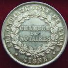 Photo numismatique  Monnaies Jetons Jeton de Notaire Jeton rond en argent LAON, Jeton de Notaires en argent, rond 33 mm, poinçon abeille, Lerouge.158 TTB+
