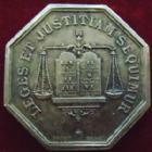 Photo numismatique  Monnaies Jetons Jeton de Notaire Jeton octogonal en argent CHATEAUROUX, Jeton de Notaires en argent, octogonal 28 mm, Pacot, poinçon corne, Lerouge.85 presque SUPERBE