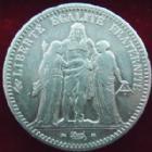 Photo numismatique  Monnaies Monnaies Françaises Deuxième République 5 Francs 5 francs Hercule 1849 A Main-Chien, G.719 TB à TTB