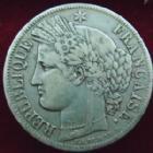 Photo numismatique  Monnaies Monnaies Fran�aises Deuxi�me R�publique 5 Francs 5 francs C�r�s 1849 BB Strasbourg, G.719 TB+
