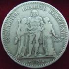 Photo numismatique  Monnaies Monnaies Françaises Troisième République 5 Francs 5 francs Hercule 1875 K Bordeaux, G.745a TB+