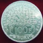 Photo numismatique  Monnaies Monnaies Fran�aises Cinqui�me r�publique 100 francs Panth�on 100 francs Panth�on 1988, G.898 TTB � SUPERBE