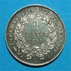 Photo numismatique  Monnaies Monnaies Fran�aises Deuxi�me R�publique 2 Francs 2 Francs Type C�r�s 1851 A Paris SUP � FDC tr�s bel exemplaire!!!