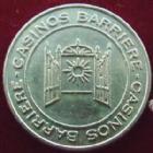Photo numismatique  Monnaies Jetons Jeton de Casino 50 Centimes Casino Barriere de Ribeauvillé, jeton de 50 centimes, TTB+