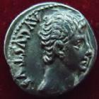 Photo numismatique  Monnaies Empire Romain AUGUSTE, AUGUSTUS, AUGUSTO Denier, denar, denario, denarius AUGUSTUS, AUGUSTE, Denier Lyon en 27-12 avant Jc, Diana, 3,72 grms, RSC.146 TTB+