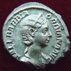 Photo numismatique  Monnaies Empire Romain ORBIANNE, ORBIANA Denier, denar, denario, denarius ORBIANA, ORBIANE, Denier Rome en 225-227, Concordia Augg, 3,11 grms, RIC.319 SUPERBE+ !