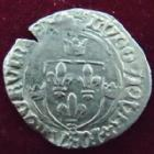 Photo numismatique  Monnaies Monnaies Royales Louis XII Grand blanc � la couronne LOUIS XII, Grand blanc � la couronne, 1498, point 11�me St Pour�ain, 2,51 grms, DY.664 TB � TTB