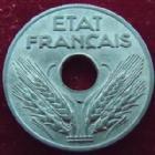 Photo numismatique  Monnaies Monnaies Françaises Etat Français 20 Centimes 20 Centimes zinc 1943, G.321 presque SUPERBE