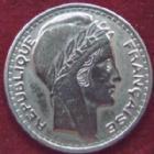 Photo numismatique  Monnaies Monnaies Françaises Gouvernement Provisoire 10 Francs 10 Francs Turin 1946 B Rameaux longs, G.810 Lustrée sinon TTB Rare!