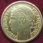 Photo numismatique  Monnaies Monnaies Françaises Troisième République 2 Francs 2 Francs Morlon 1935, G.535, Nettoyée sinon TTB R!
