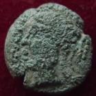 Photo numismatique  Monnaies Monnaies Gauloises Sequani, Sequanes Bronze Turonos Cantorix SEQUANES, SEQUANI, Bronze TURONOS CANTORIX, 1er siècle avant Jc, 3,33 grms, DT.3260 B à TB Rare!