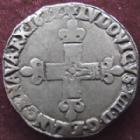 Photo numismatique  Monnaies Monnaies Royales Louis XIII 1/4 d'Ecu � la croix fleurdelis�e LOUIS XIII, 1/4 d'Ecu � la croix fleurdelis�e 1612 L Bayonne , 9,53 grms, L4L.16 TTB