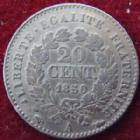 Photo numismatique  Monnaies Monnaies Françaises Deuxième République 20 Cmes 20 centimes Cérès 1850 A, G.303 TTB
