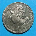 Photo numismatique  Monnaies Monnaies Françaises Louis XVIII 2 Francs LOUIS XVIII 2 Francs 1817 H LA ROCHELLE G.513 TTB+ à SUPERBE