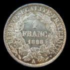 Photo numismatique  Monnaies Monnaies Françaises Troisième République 1 Franc 1 Franc Cérès 1888 A, G.465a P.SUPERBE