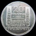 Photo numismatique  Monnaies Monnaies Françaises Troisième République 20 Francs 20 Francs Turin 1933 rameaux courts, G.852 petites traces sinon SUPERBE+