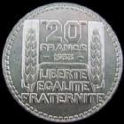 Photo numismatique  Monnaies Monnaies Françaises Troisième République 20 Francs 20 francs Turin 1933 rameaux longs, G.852 SUPERBE
