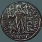 Photo numismatique  Monnaies Empire Romain LICINIUS I, LICINIO I,  Follis, folles,  LICINIUS I, Follis Alexandrie en 321-324, buste radié, Iovi Conservatori, 3,12 grms, RIC.32 R5!! SUPERBE Rare!