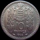 Photo numismatique  Monnaies Monnaies étrangères Monaco 10 Francs MONACO, 10 francs 1946, Louis II, G.133 TTB+