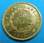 Photo numismatique  Monnaies Monnaies Françaises 1er Empire 20 Francs NAPOLEON Ier 20 Francs 1814 W Lille bel exemplaire P.FDC