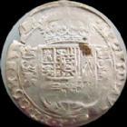 Photo numismatique  Monnaies Monnaies Féodales Franche comté Dole 1/16ème de patagon Dôle, 1/16e de patagon 1622, 2,68 grms, R.34 TB+ R!