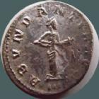 Photo numismatique  Monnaies Empire Romain PROBUS, PROBIO Antoninien, antoninianus, antoniniane PROBUS, antoninien Lyon en 276-282, Abundantia Aug, 3,57 grms, RIC 60 TTB/TTB+