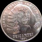 Photo numismatique  Monnaies Monnaies Françaises Cinquième république 100 Francs Descartes 100 francs Descartes 1991, G.902 SUPERBE
