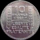 Photo numismatique  Monnaies Monnaies Françaises Troisième République 10 Francs 10 francs Turin 1929, argent, G.801 TTB à SUPERBE