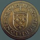 Photo numismatique  Monnaies Monnaies Françaises Troisième République Essai au type du ducat d'or de Louis XII Essai au type du ducat d'or de Louis XII, bronze non daté, Paris, 25 mm 7,85 grms, VG 3964 SUPERBE+ R!