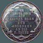 Photo numismatique  Monnaies Médailles Etrangères Allemagne, Deutschland, Germany médaille en argent, Silber médaillen Allemagne, Deutschland, médaille en argent vers 1800, 28 mm avec ecrin, Er leite dich auf Ebener Bahn- zum andenken am die H.Taufe, SUPERBE