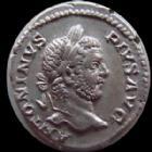 Photo numismatique  Monnaies Empire Romain CARACALLA Denier, denar, denario, denarius CARACALLA, denier Rome en 210, concordia assise, 2,97 grms, RIC 11ba, TTB+