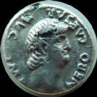 Photo numismatique  Monnaies Empire Romain NERON, NERO Denier, denar, denario, denarius NERON, NERO, denier Rome en 63-64, Rome en habit militaire, 2,49 grms, RIC 28 Fourré!! TB à TTB