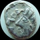 Photo numismatique  Monnaies Monnaies Gauloises Leuci, Leuques Denier SOLIMA, denarius, denar LEUQUES, LEUCI, denier SOLIMA, cheval, dessous une baleine?, vers 60-40 avant Jc, 1,81 grms, DT 3270 TB+