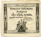 Photo numismatique  Billets Billets de confiance Assignats Domaine Nationaux Assignat de dix sous Assignat de dix sous, 4 Janvier 1792, signé Guyon, TTB