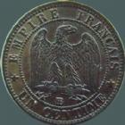 Photo numismatique  Monnaies Monnaies Françaises Second Empire 1 Centime NAPOLEON III, 1 centime 1862 petit BB Strasbourg, G.87 SUPERBE