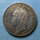 Photo numismatique  Monnaies Monnaies étrangères Allemagne Anhalt dessau Thaler Allemagne Anhalt Dessau, 1863, Léopold Friedrich, Thaler, KM.15 SUPERBE à FDC