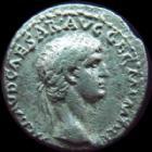 Photo numismatique  Monnaies Empire Romain CLAUDE I, CLAUDIUS I, CLAUDIO I, CLAUDIUS, CLAUDIO Denier, denar, denario, denarius CLAUDE I, CLAUDIUS I, Denier Rome en 41-42, EX SC OB CIVES SERVATOS, 3,62 grms, RIC 16 TB à TTB Rare!