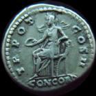 Photo numismatique  Monnaies Empire Romain AELIUS, AELIO Denier, denar, denario, denarius AELIUS, Denier Rome en 136-138, Concordia, 3,58 grms, RIC 436 Bon TTB R!