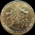 Photo numismatique  Monnaies Monnaies Françaises Cinquième république 10 francs Mathieu 10 francs Mathieu 1984 tranche A, G.814 FDC