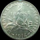 Photo numismatique  Monnaies Monnaies Françaises Troisième République 2 Francs 2 francs semeuse de Roty 1914, G.532 SUPERBE+