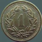Photo numismatique  Monnaies Monnaies étrangères SUISSE, SCHWEIZ, SWITZERLAND Rappen Suisse, Schweiz, Switzerland, 1 rappen 1912, HMZ.1215 presque SUPERBE