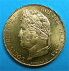 Photo numismatique  Monnaies Monnaies Françaises Louis Philippe 20 Francs LOUIS PHILIPPE Ier 20 Francs 1848 A Paris G.1031 SUP à FDC
