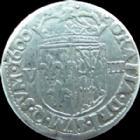 Photo numismatique  Monnaies Monnaies Royales Henri IV Huiti�me d'Ecu de Navarre, 1/8 d'Ecu HENRI IV, HENRI IIII, HENRI 4, Huiti�me d'Ecu de Navarre, 1/8 e d'Ecu, 1600, 4,44 grms, DY.1239 TTB