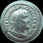 Photo numismatique  Monnaies Empire Romain MAXIMIN I, MAXIMINUS I, MAXIMINO I Denier, denar, denario, denarius MAXIMIN Ier le Thrace, MAXIMINUS Thrax, denier Rome en 238, PM TR P III COS PP, 2,55 grms, RIC 6 presque SUPERBE